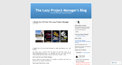 The-lazy-project-managers-blog